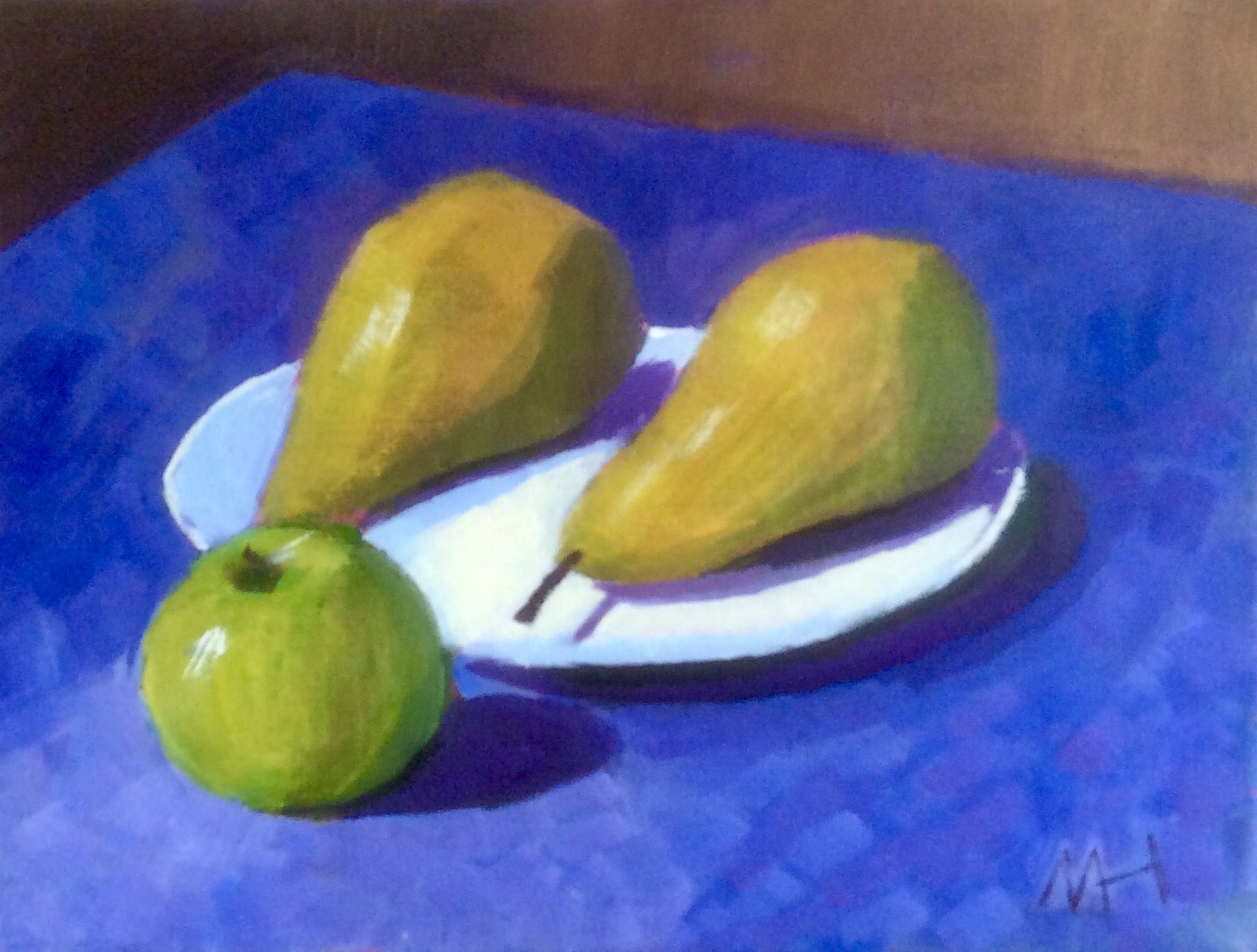 Apple with two pears