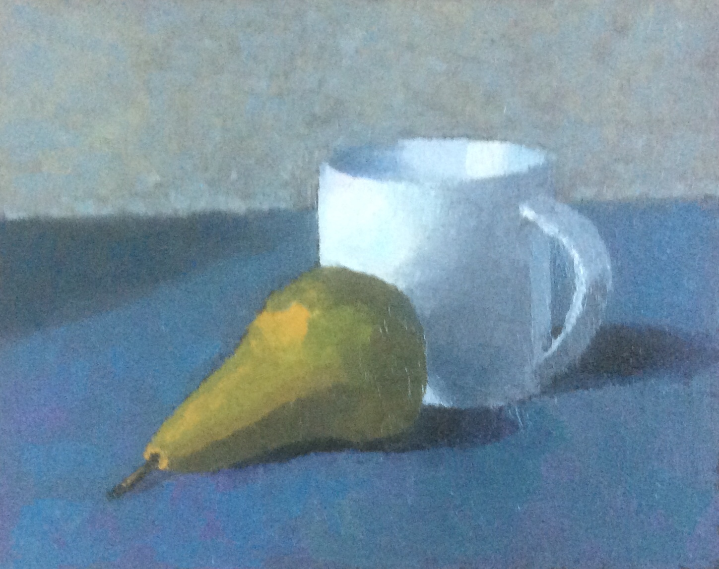 Conference pear with mug