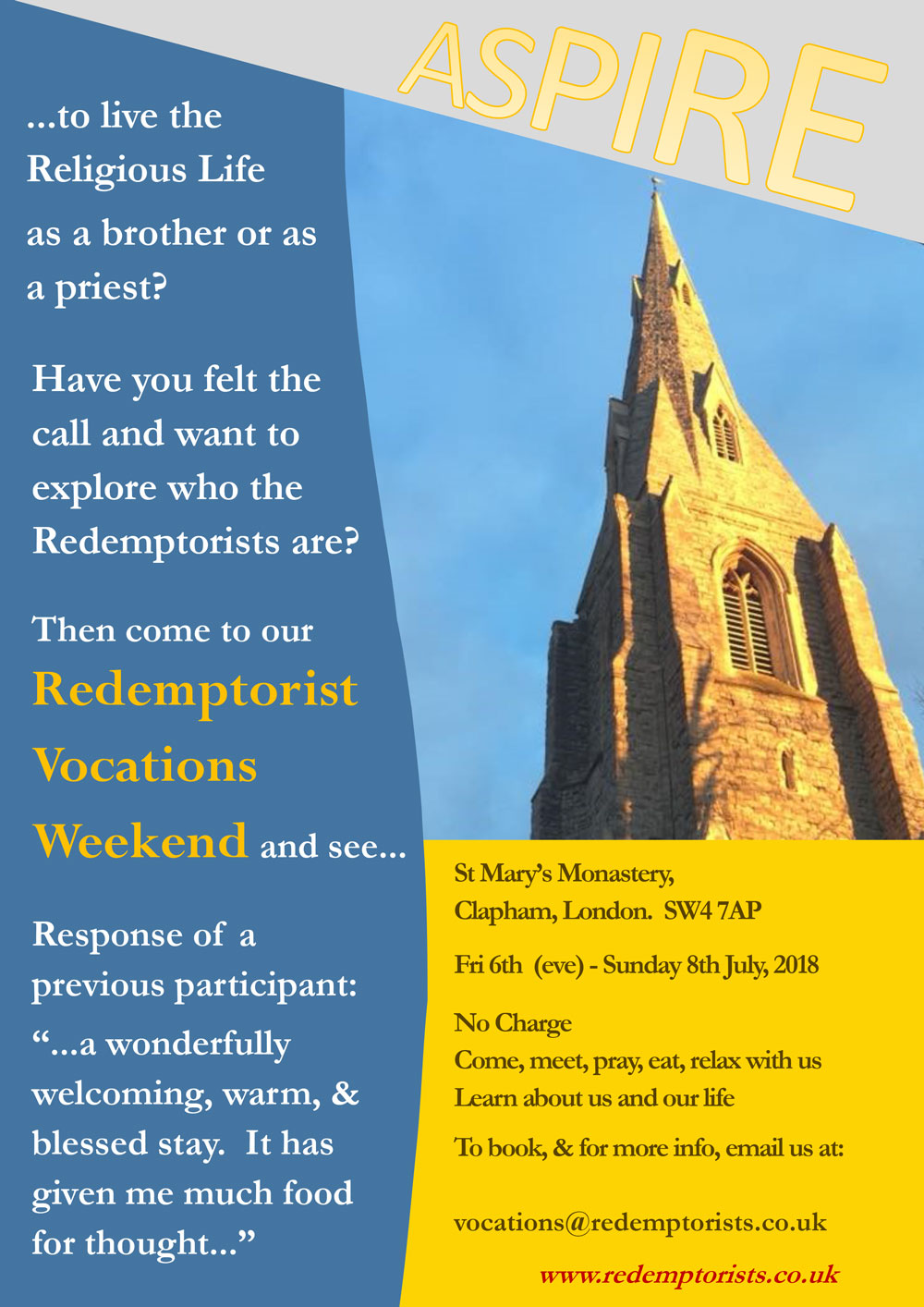 July2018ClaphamVocationsWeekend