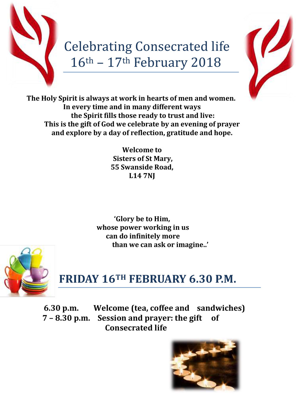 Celebrating Consecrated life 16 17th February 2018 1