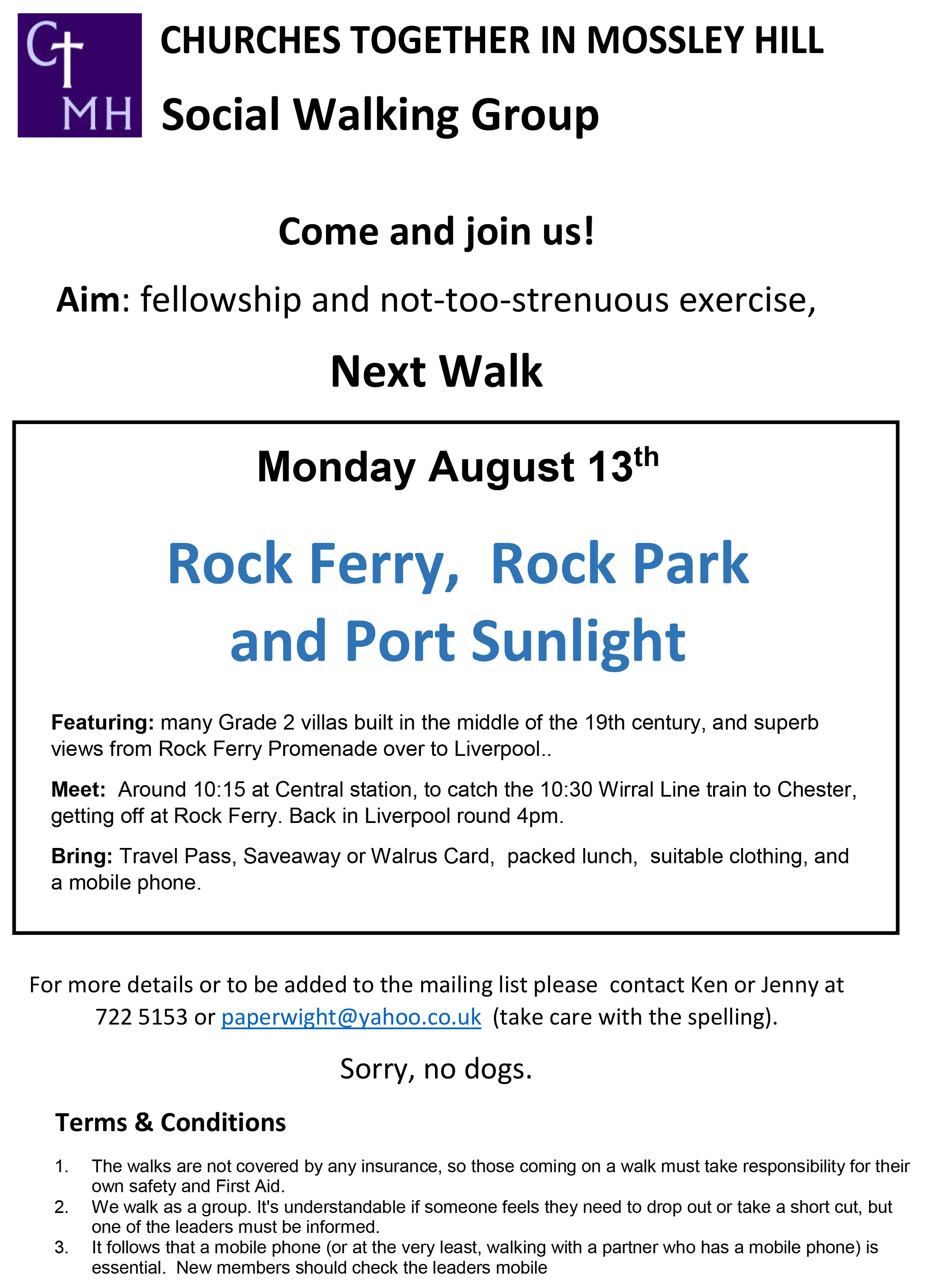 CTMH Social Walking Group August
