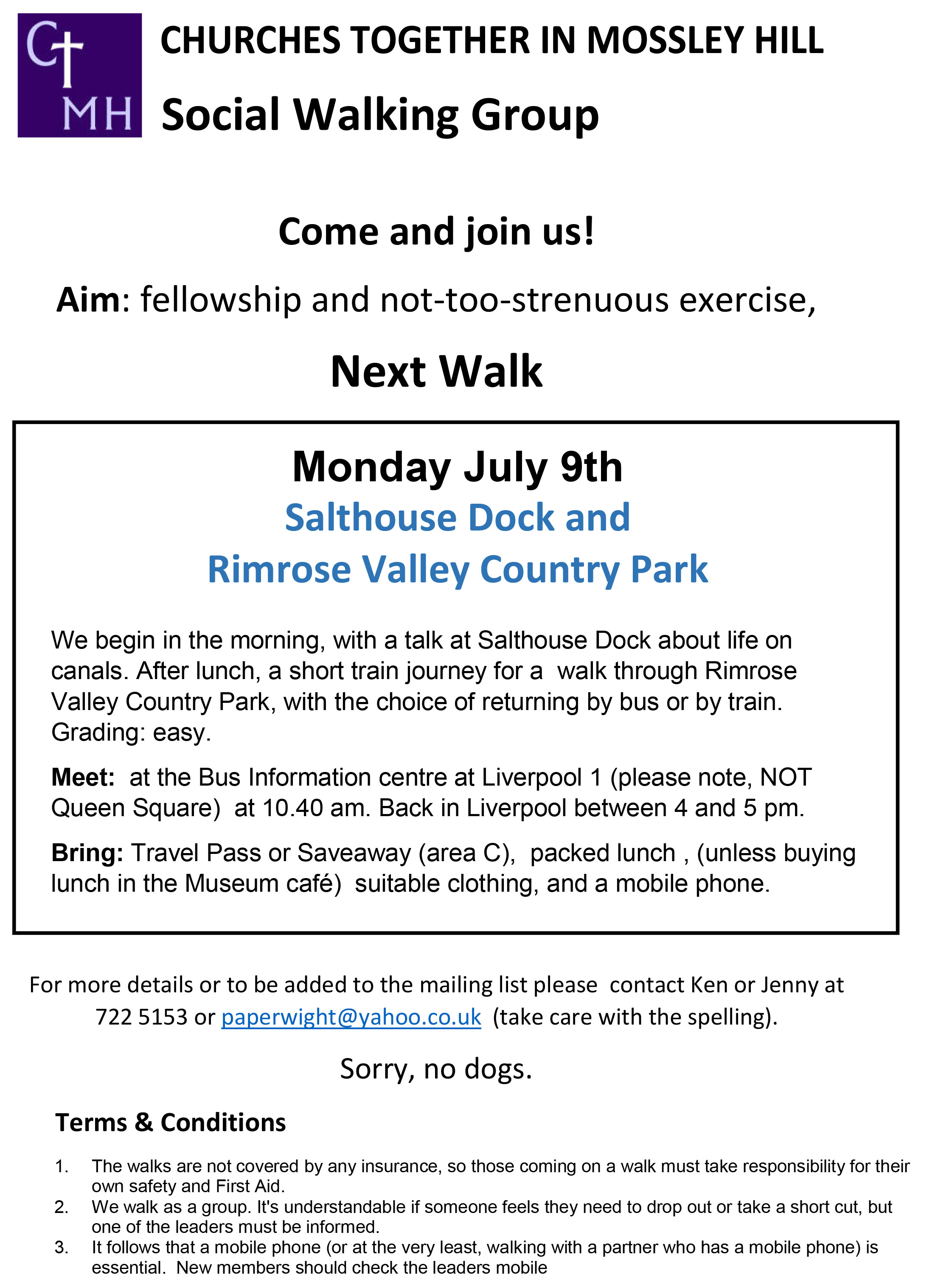 CTMH Social Walking Group July