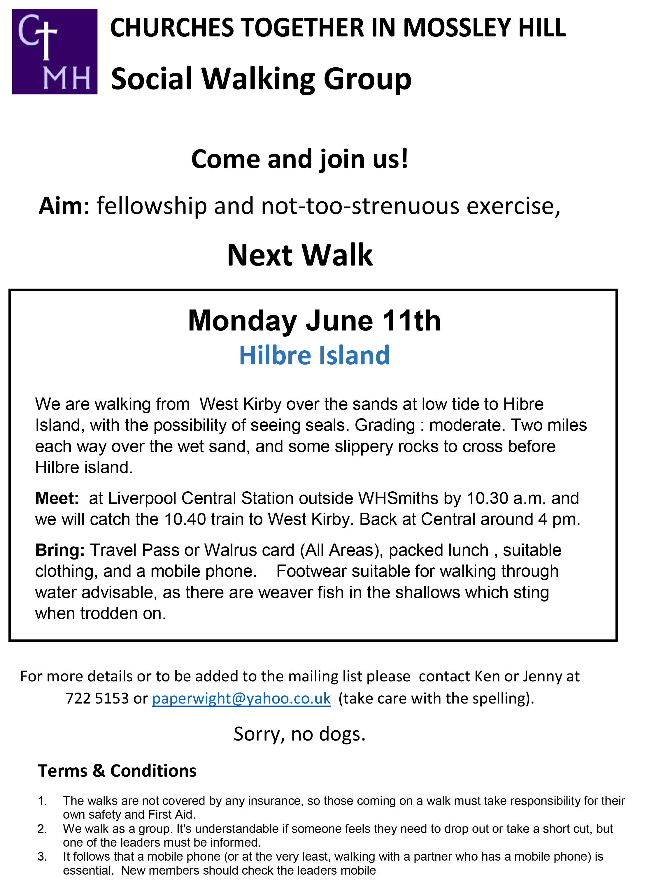 CTMH Social Walking Group June