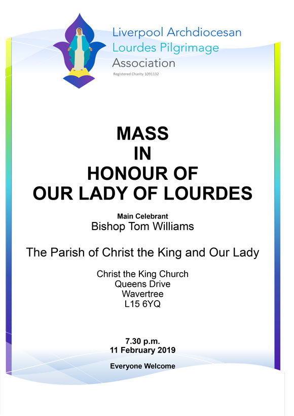 Our Lady of Lourdes Poster Feb 2019