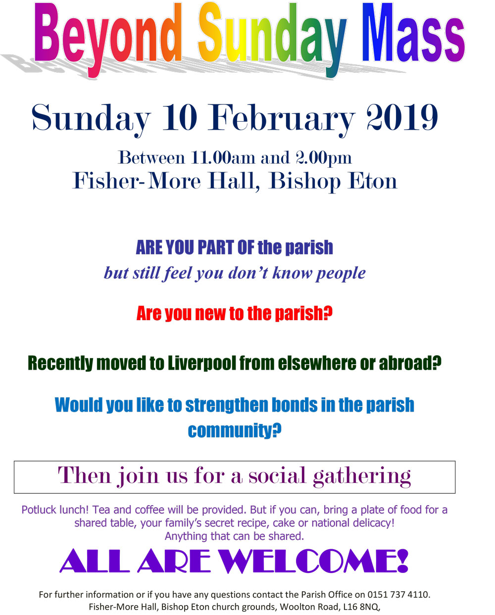 Beyond Sunday Mass Feb 2019
