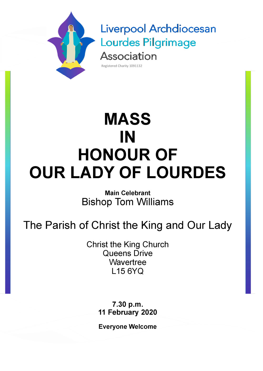 Mass in Honour of Our Lady of Lourdes