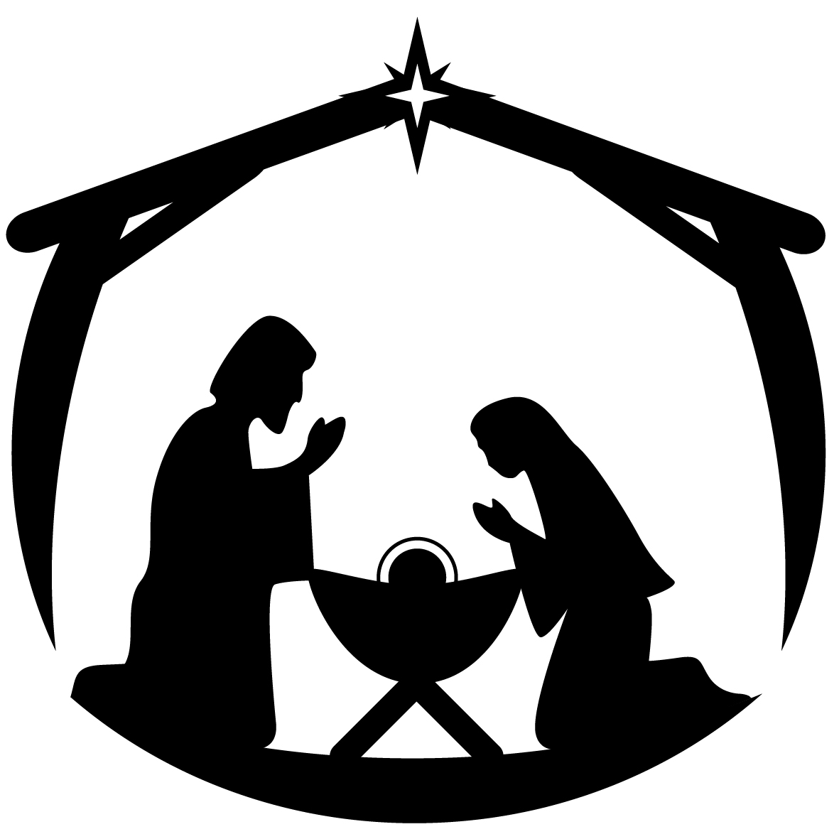 Line Drawing Nativity : Christmas crib line drawing creative ideas of baby cribs