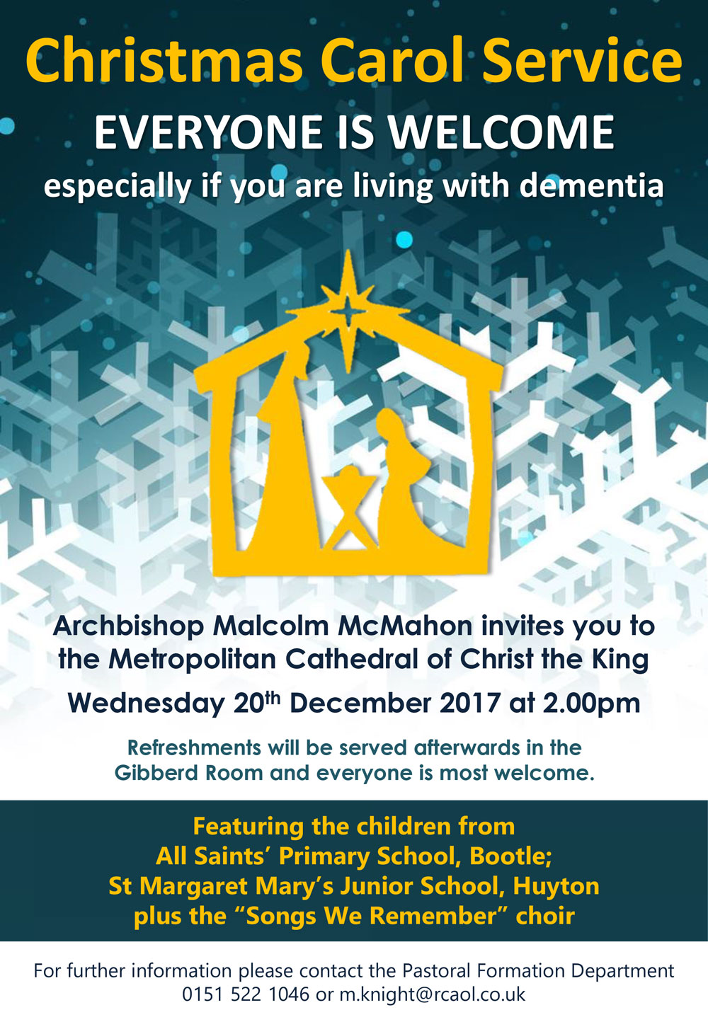 Dementia Friendly Carol Service 2017